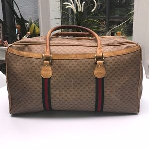 Authentic Gucci Vintage GG Monogram Travel Bag